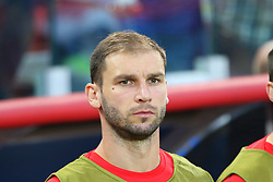 June 27, 2018 - Moscow, Russia - June 27, 2018, Russia, Moscow, FIFA World Cup 2018, First round, Group D, Third round. Football match Serbia - Brazil at the stadium of Spartak. Player of the national team Branislav Ivanovich. (Credit Image: © Russian Look via ZUMA Wire)