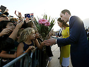 April 16, 2014 - Sydney, AUSTRALIA - <br /> <br /> Prince William and Kate, Duchess of Cambridge<br /> <br />  Britain's Prince William, right, and his wife Kate, the  Duchess of Cambridge, second from right, meet with people  on the steps of the Sydney Opera House following a  reception in Sydney, Australia, Wednesday, April 16, 2014.  The royal couple, along with their son Prince George, are on  a 10-day official visit.<br /> ©Exclusivepix