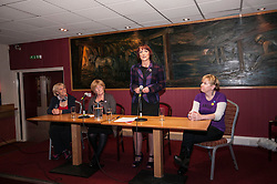 Cabinet Secretary for Training, Youth and Women's Employment, Angela Constance, MSP, launched her campaign to become the next Depute Leader of the SNP. Ms Constance is MSP for Almond Valley.  Pictured, Jean Moffat,  Liz Bardell (vice convenor Almond Valled SNP association), Angela Constance and Lorna Skirving. Addiewell 1 October 2014 Ger Harley   StockPix.eu