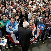 Democratic presidential candidate Bernie Sanders greets supporters and potential voters after a campaign event at the Myrtle Beach Convention Center in Myrtle Beach, S.C., on Wednesday, February 26, 2020.