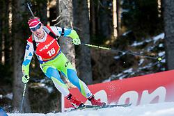 Dominik Windisch (ITA) competes during Men 12,5 km Pursuit at day 3 of IBU Biathlon World Cup 2015/16 Pokljuka, on December 19, 2015 in Rudno polje, Pokljuka, Slovenia. Photo by Urban Urbanc / Sportida