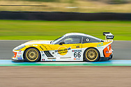 Rob Boston (GBR) of Rob Boston Racing exits the chicane during Round 16 of the 2019 Millers Oils Ginetta GT4 Supercup at Knockhill Racing Circuit, Dunfermline, Scotland on 15 September 2019.