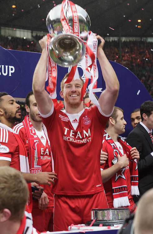 Scottish League Cup Final Aberdeen V Inverness CT at Parkhead on Sunday, 16th of March 2014, Aberdeen Scotland.<br /> Pictured: Adam Rooney <br /> (Photo Ross Johnston/Newsline Scotland)
