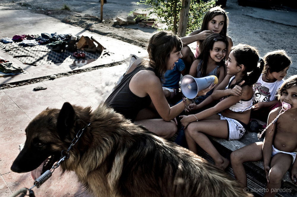 Gypsy shanty town of Puerta de Hierro, Madrid, Spain. They are facing eviction. 15M indignados movement supports them. September 2011- July 2012