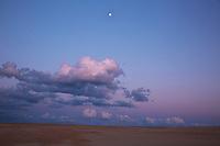 NC01433-00...NORTH CAROLINA - Dusk at Jockey's Ridge State Park on the Outer Banks at Nags Head.