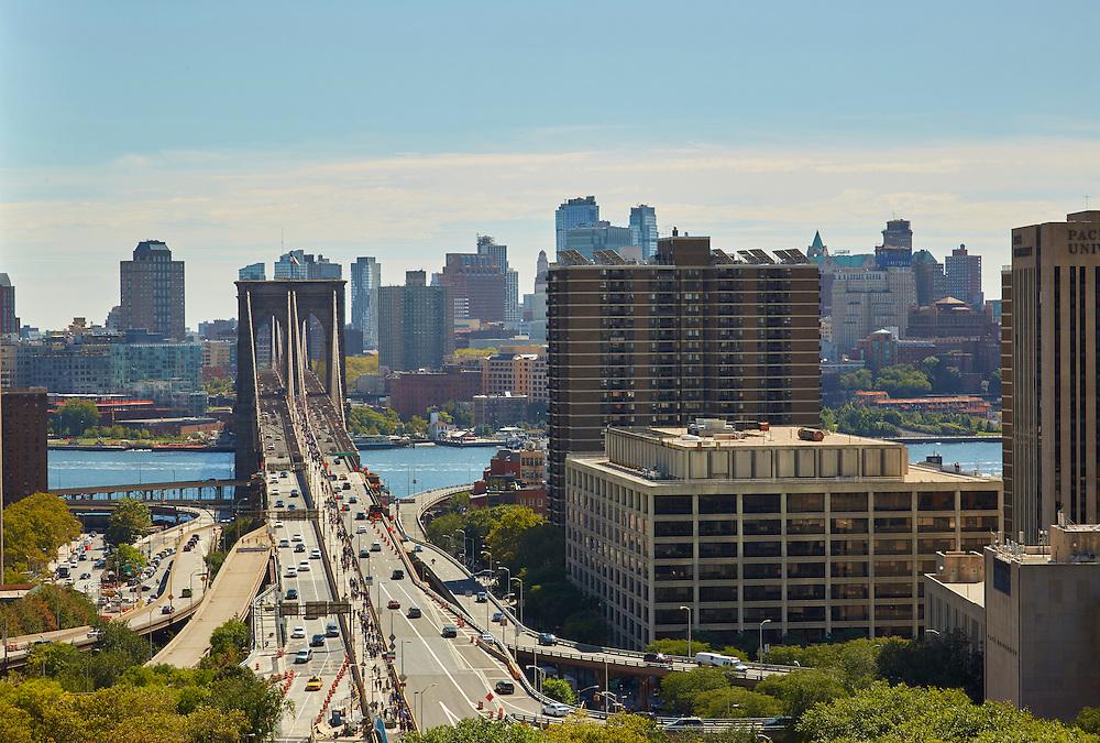 View of Brooklyn Bridge from 270 Broadway, 16th floor