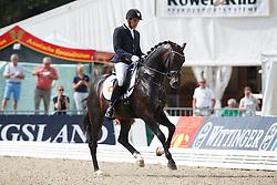 Jurado Lopez Severo Jesus, (ESP), Franklin 54<br /> First Qualifying Competition 5year old horses<br /> World Championship Young Dressage Horses - Verden 2015<br /> © Hippo Foto - Dirk Caremans<br /> 06/08/15