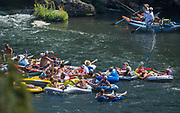 If you can't beat the flotilla of the rubber hatch mid summer...raise a toast to good times.