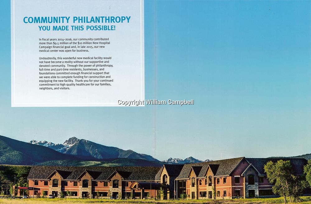 The new Livingston HealthCare hospital in Livingston, Montana.
