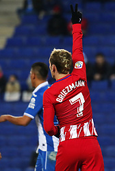 December 22, 2017 - Barcelona, Spain - Antoine Griezmann during the La Liga match between RCD Espanyol and Atletico de Madrid, in Barcelona, on December 22, 2017. Photo: Joan Valls/Urbanandsport/Nurphoto  (Credit Image: © Joan Valls/NurPhoto via ZUMA Press)