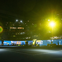 A general view of the light show at Rod Laver Arena on day two of the 2017 Australian Open at Melbourne Park on January 17, 2017 in Melbourne, Australia.<br /> (Ben Solomon/Tennis Australia)