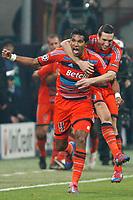 FOOTBALL - UEFA CHAMPIONS LEAGUE 2011/2012 - 1/8 FINAL - 2ND LEG - INTER MILAN v OLYMPIQUE MARSEILLE - 13/03/2012 - PHOTO PHILIPPE LAURENSON / DPPI - JOY BRANDAO (OM) AFTER HIS GOAL