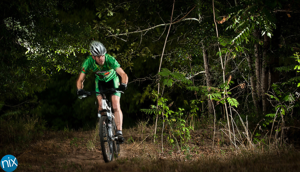 Dustin Wilson, of the Central Carolina Cycling Club, is training for the ORAMM (Off Road Assault on Mount Mitchell).  (Photo by James Nix)