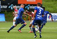 Fotball<br /> Tippeliga 2016<br /> Tromsø IL vs Stabæk 24.07.2016<br /> Morten Skjønsberg, StabækSofiane Moussa, TromsøMarcus Nilsson, Stabæk<br /> Foto: Tom Benjaminsen / Digitalsport