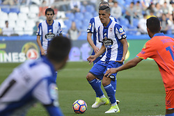 May 20, 2017 - Faycal with the ball. LA CORUNA SPAIN. MAY 20, 2017 - La Liga Santander match day 38 game. Deportivo La Coruna defeated Las Palmas with goals scored by Florin And one (4th and 28th minute) and Carles Gil (39th minute). Riazor Stadium, Spain. Photo by Monica Arcay Carro | PHOTO MEDIA EXPRESS (Credit Image: © Monica Arcay Carro/VW Pics via ZUMA Wire/ZUMAPRESS.com)