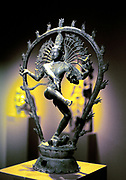 Siva (Shiva) Hindu god with contrasting qualities of destructive and renovating power. God of arts, ascetics and learning. Third member of Hindu Trimurti.  950 AD bronze from Tamil Nadu, India.