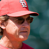 12 April 2008: Manager #10 Tony La Russa of the Cardinals is seen prior to the St. Louis Cardinals 8-7 victory over the San Francisco Giants at the AT&T Park in San Francisco, CA.