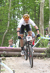01.06.2014, Bullentaele, Albstadt, GER, UCI Mountain Bike World Cup, Cross Country Herren, im Bild Martin Gluth Deutschland // during Mens Cross Country Race of UCI Mountainbike Worldcup at the Bullentaele in Albstadt, Germany on 2014/06/01. EXPA Pictures © 2014, PhotoCredit: EXPA/ Eibner-Pressefoto/ Langer<br /> <br /> *****ATTENTION - OUT of GER*****
