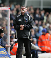 Photo: Lee Earle.<br /> Birmingham City v Chelsea. The Barclays Premiership. 01/04/2006. City manager Steve Bruce is happy with the result.