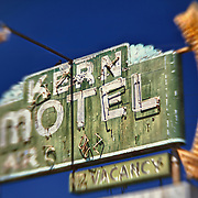 Kern Motel Sign Northbound View - McFarland, CA - Highway 99 - HDR - Lensbaby