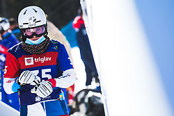 Jessica Keiser (SUI) during parallel slalom FIS Snowboard Alpine World Championships 2021 on March 2nd 2021 on Rogla, Slovenia. Photo by Grega Valancic / Sportida