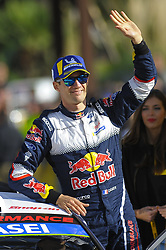 October 28, 2018 - Barcelona, Catalonia, Spain - The French driver, Sebastian Ogier of M-Sport Ford WRT, greeting his suporters at podium ceremoy during the last day of Rally Racc Catalunya Costa Daurada, on October 28, 2018 in Salou, Spain. (Credit Image: © Joan Cros/NurPhoto via ZUMA Press)