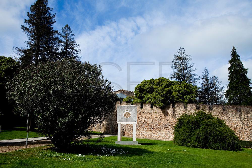"""The Castle of the Eye"" by the american artist Mincru Nizuma. Modern Art in Evora, capital city of Alentejo province."