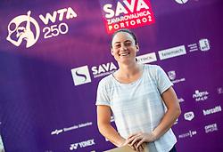 PORTOROZ, SLOVENIA - SEPTEMBER 11:   Tamara Zidansek of Slovenia during the Tournament welcome drink in VIP Lounge of WTA 250 Zavarovalnica Sava Portoroz at Stadium Marina on September 11, 2021 in Portoroz / Portorose, Slovenia. Photo by Vid Ponikvar / Sportida