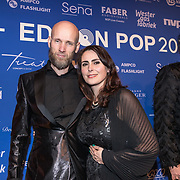 NLD/Amsterdam/20190212- Uitreiking Edison Pop 2019, Sharon den Adel en partner Robert Westerholt