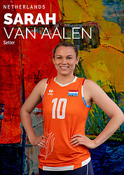 Sarah van Aalen of Netherlands, Photoshoot selection of Orange women's volleybal team season 2021on may 12, 2021 in Arnhem, Netherlands (Photo by RHF Agency/Ronald Hoogendoorn)