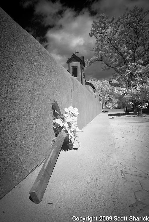 The El Santuario de Chimayo, a shrine in the small town of Chimayo, New Mexico.