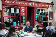 Local residents and visitors enjoy subsidised Bank Holiday Monday lunches at a Chinese restaurant on the final day of the government's Eat Out To Help Out meal scheme on 31 August 2020 in Windsor, United Kingdom. Many restaurant owners have called for an extension to the scheme introduced by the Chancellor of the Exchequer to help preserve hospitality jobs during the COVID-19 pandemic.