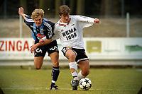 Apeldoorn, 24-03-2003<br />Testmatch betweenTrond Fredrik Ludvigsen, Rosenborg (N), Johan Arneng,  Djurgården (S).<br />Both teams are preparing for the next season in Sweden and in Norway.<br />Location: AGOVV, Apeldoorn, Netherlands