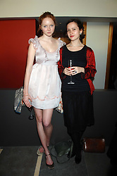 Left to right, LILY COLE and LUCY MOORE at a dinner hosted by Vogue in honour of Antony Gormley held at the new Skylon restaurant at the refurbished Royal Festival Hall, South Bank, London on 22nd May 2007.<br /><br />NON EXCLUSIVE - WORLD RIGHTS