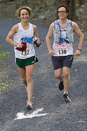 Gardiner, New York - Emily Luker and Aaron Moskowitz compete in the Rock the Ridge 50-mile endurance challenge race at the Mohonk Preserve on May 4, 2013. The race is part of Mohonk's 50th anniversary celebration and a fundraiser for the preserve.