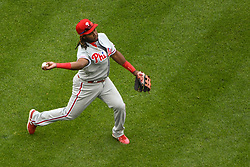 May 6, 2018 - Washington, DC, U.S. - WASHINGTON, DC - MAY 06:  Philadelphia Phillies third baseman Maikel Franco (7) fields a ground ball in the fifth inning during the game between the Philadelphia Phillies  and the Washington Nationals on May 6, 2018, at Nationals Park, in Washington D.C.  The Washington Nationals defeated the Philadelphia Phillies, 5-4.  (Photo by Mark Goldman/Icon Sportswire) (Credit Image: © Mark Goldman/Icon SMI via ZUMA Press)