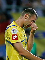 Photo: Glyn Thomas.<br />Italy v Ukraine. Quarter Finals, FIFA World Cup 2006. 30/06/2006.<br /> Ukraine's Andriy Shevchenko is dejected as his side loses 3-0.