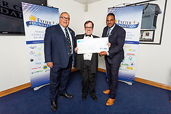 The V Ranch House Charity receives their cheque - Ryan Hiscott/JMP - 06/08/2018 - RUGBY - Sandy Park - Exeter, England - Exeter Chiefs Season Launch Dinner