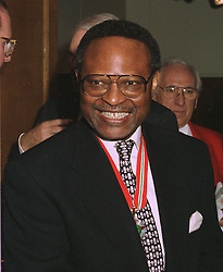 HE CHIEF ANYAOKU the Commonwealth Secretary-General, at a party in London on October 20th 1997.MCG 13