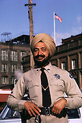 Sikh C&H sugar factory security guard, Inderjit S. Bal. Martinez, California. MODEL RELEASED.