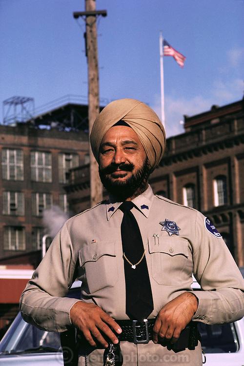 Sikh C&H sugar factory security guard, Inderjit S. Bal. Martinez, California. MODEL RELEASED.