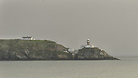 Bailey Lighthouse on a Misty Morning, Howth on Dublin Bay, Dublin Ireland. Image taken with a Nikon D800 and 70-300 mm VR lens (ISO 100, 300 mm, f/5.6, 1/125 sec)