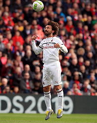 Milan's Andrea Pirlo in action during the Legends match at Anfield Stadium, Liverpool.