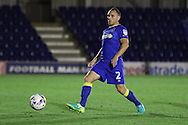 AFC Wimbledon defender & captain Barry Fuller (2) during the EFL Trophy match between AFC Wimbledon and U23 Swansea City at the Cherry Red Records Stadium, Kingston, England on 30 August 2016. Photo by Stuart Butcher.