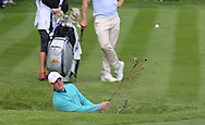Germany's Martin Kaymer chips out of a bunker at the BMW PGA Championship Celebrity Pro-Am Challenge at the Wentworth Club, Virginia Water, United Kingdom on 20 May 2015