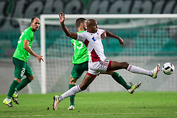 Kenan Bajric of NK Olimpija vs Rangelo Janga of AS Trencin during 1st Leg football match between NK Olimpija Ljubljana (SLO) and FK AS Trenčin (SVK) in Second Qualifying Round of UEFA Champions League 2016/17, on July 13, 2016 in SRC Stozice, Ljubljana, Slovenia. Photo by Vid Ponikvar / Sportida