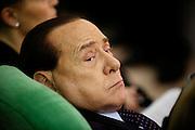 """Silvio Berlusconi, durante la manifestazione """"Si Amo l'Italia' promossa dal Coordinamento nazionale dei Club di Forza Italia all'Auditorium del Complesso del Divino Amore, Roma 14 gennaio 2015.  Christian Mantuano / OneShot"""