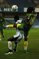 Photo: Tony Oudot.<br /> Ghana v Senegal. International Friendly. 21/08/2007.<br />  Anthony Annan of Ghana clashes with Frederic Mendy of Senegal