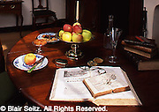 Wright's Ferry Mansion, Victorian table display, Columbia, PA