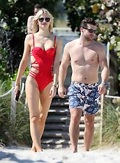 Sofija Milosevic & Adam Ljajic on the beach - 16 Feb 2018